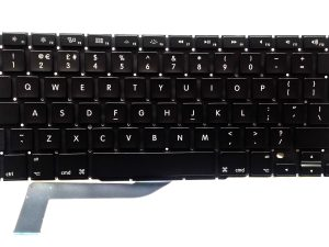 Apple Keyboard (UK Layout) for Apple MacBook Pro Retina 15 inch A1398 Mid 2012 early 2013, late 2013, Mid 2014, Mid 2015