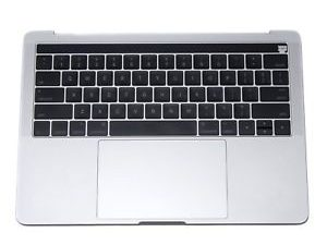 A1706 TopCase (Silver) with Keyboard and Trackpad for Apple MacBook Pro 13 inch retina A1706 Touch Late 2016, A1706 Touch Mid 2017