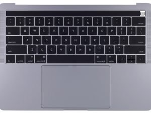A1989 Top Case with Keyboard, Space Grey, for Apple MacBook Pro 13-inch Retina Touch A1989(Mid 2018 - Mid 2019)