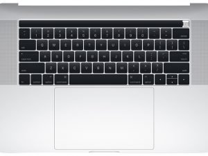 A1990 Top Case with Keyboard,Silver for Apple MacBook Pro 15-inch Retina Touch A1990 (Mid 2018)